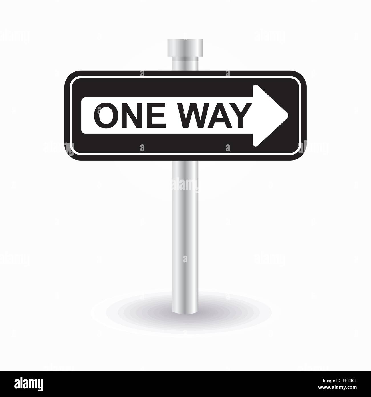 One Way Sign Stock Vector Art Illustration Vector Image 96547418