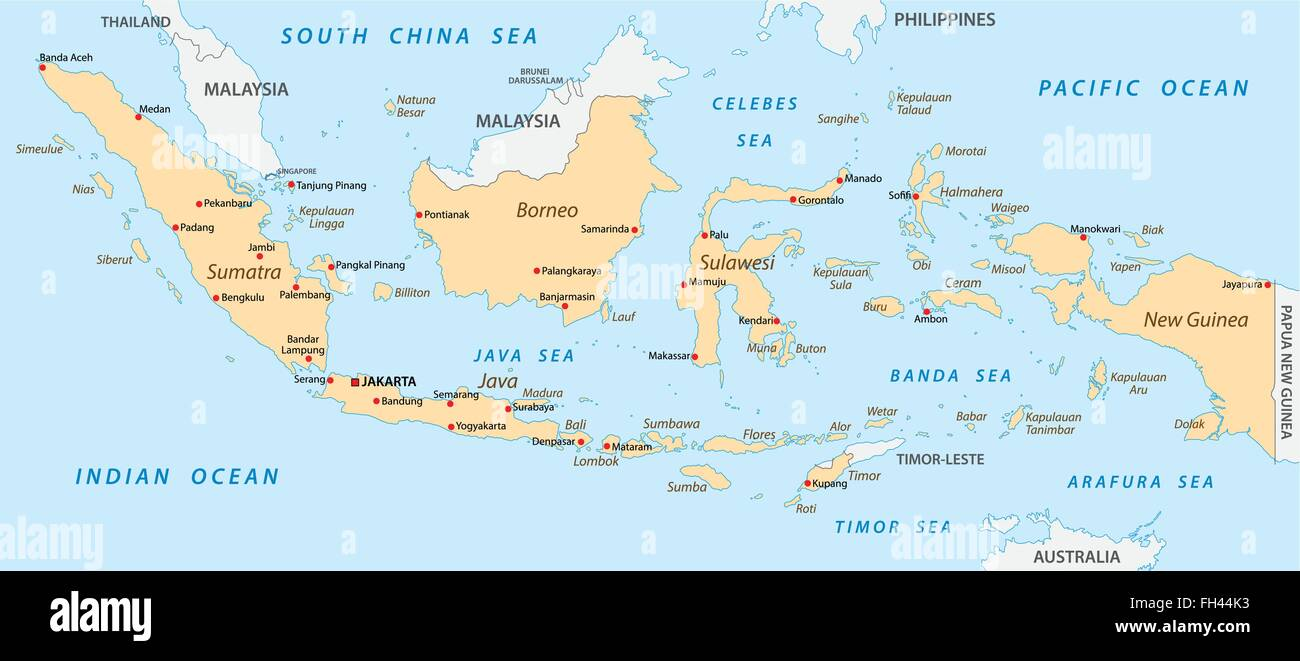 Indonesia map stock photos indonesia map stock images alamy indonesia map stock image gumiabroncs Images