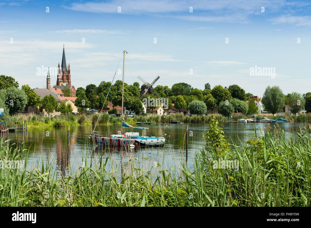 Panorama View On The Famous Oldtown Of Werder An Der Havel Germany