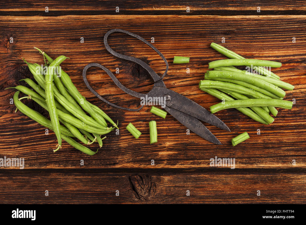 Green beans. - Stock Image