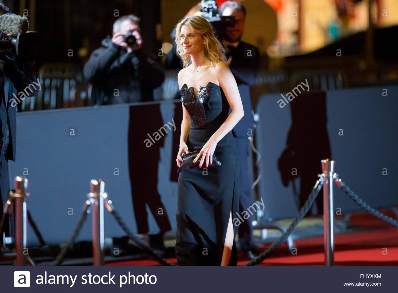 Paris, France. February 26th, 2016. FRANCE, Paris: French actress and director Melanie Laurent walks on the red Stock Photo