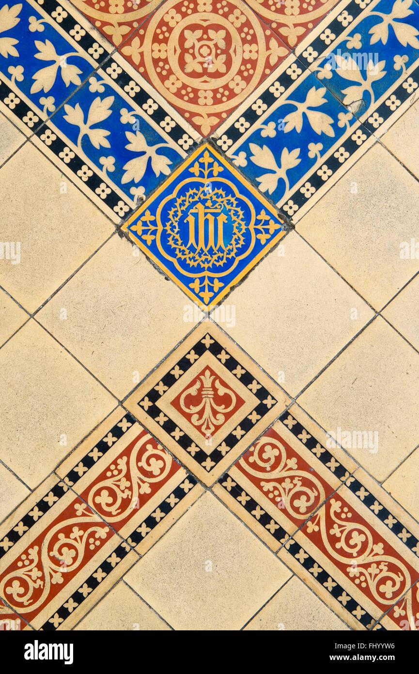 Wells Cathedral Interior Lady Chapel Minton Floor Tiles Somerset