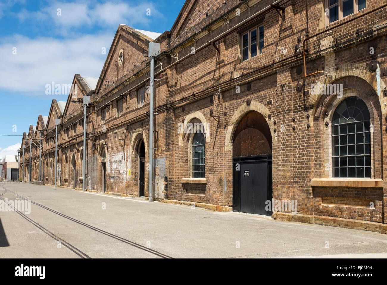Eveleigh Carriageworks Contemporary Arts Centre, Redfern Sydney NSW Australia Stock Photo