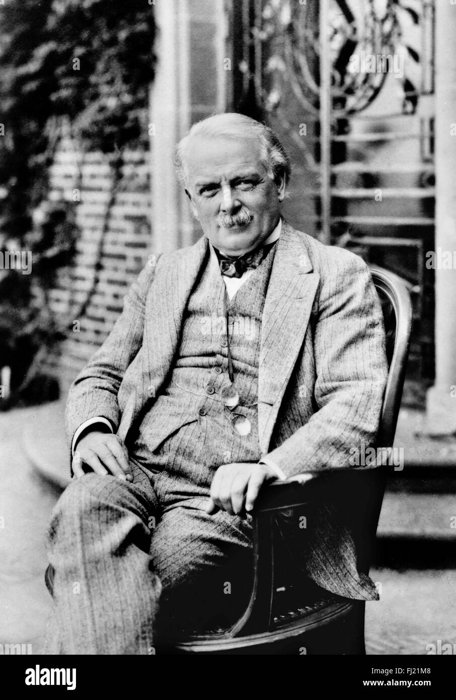 David Lloyd George. Potrait of the liberal politician who was British Prime Minister during and immediately after - Stock Image