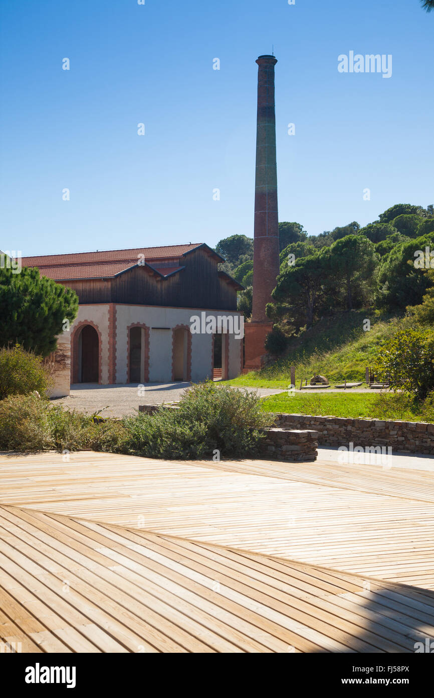 The dynamite factory at Paulilles South of France. - Stock Image