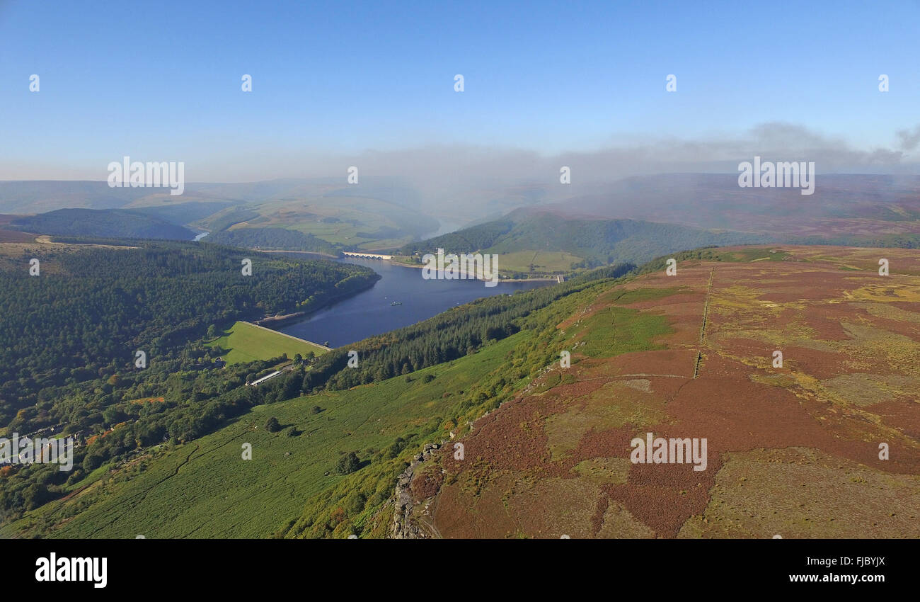 Bamford Edge Derbyshire Peak District - Stock Image