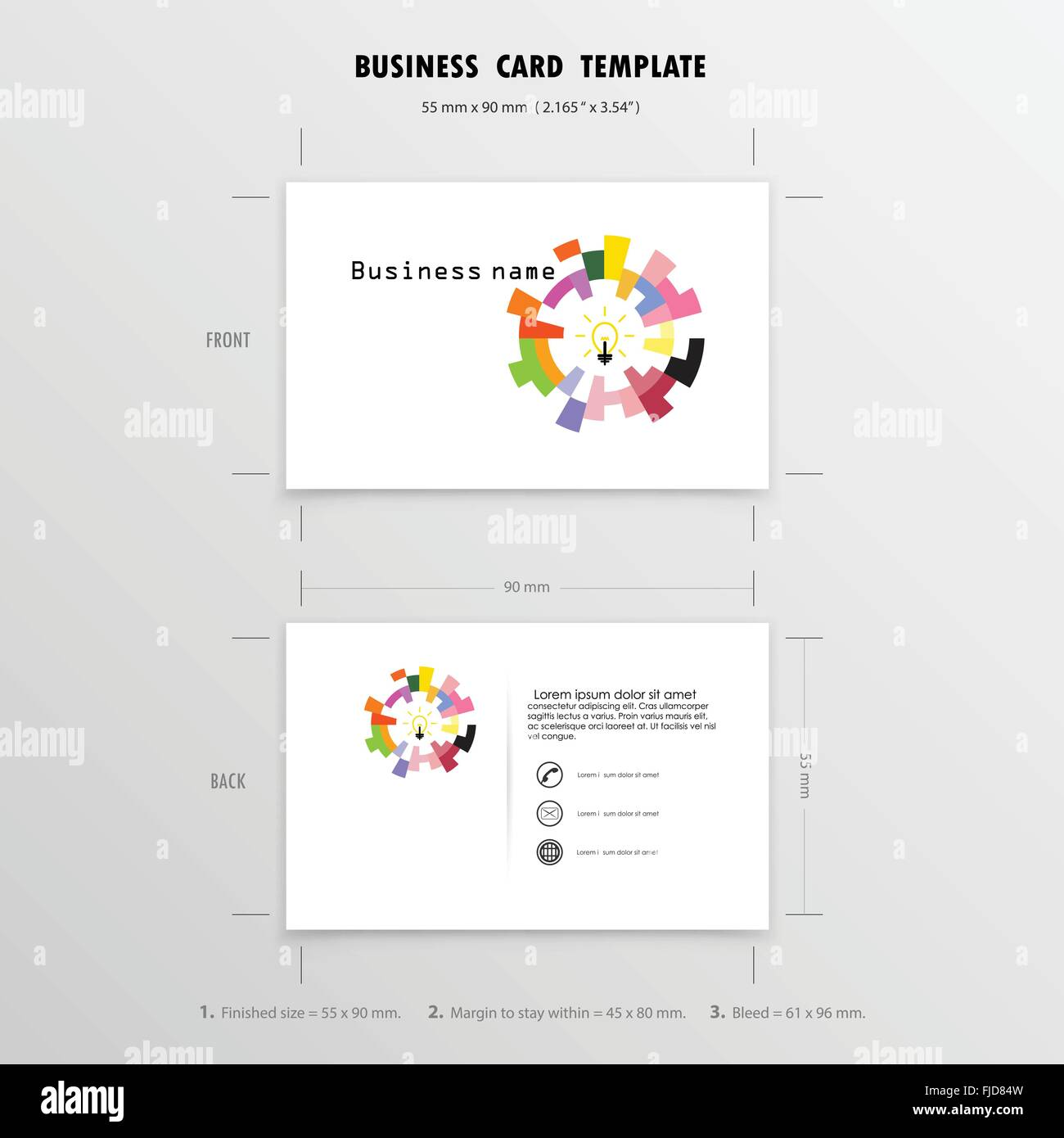 abstract creative business cards design template name cards symbol