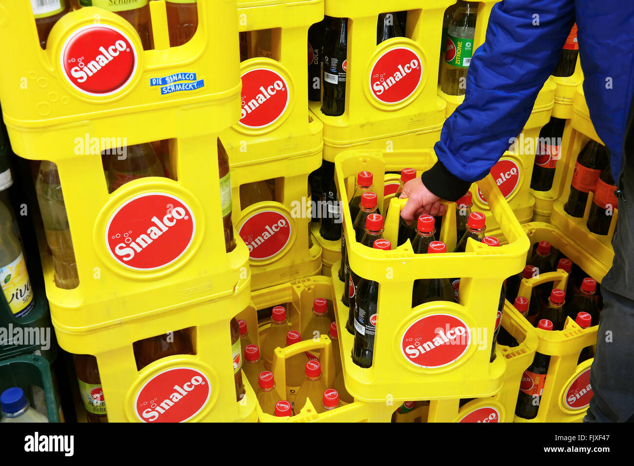 Sinalco is a popular brand of non-alcoholic drinks - Stock Image