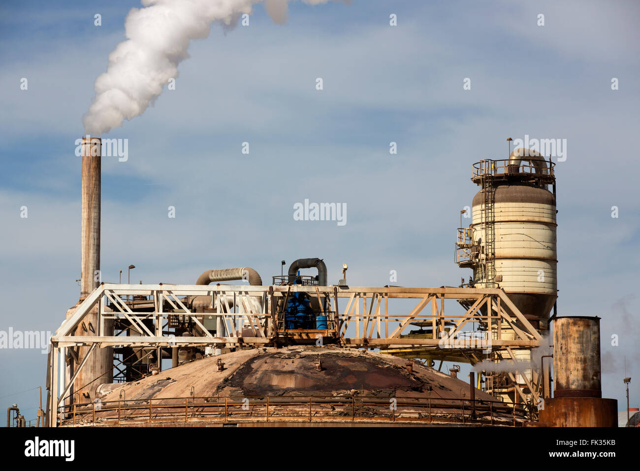 geothermal energy plant, Imperial Valley, California, - Stock Image