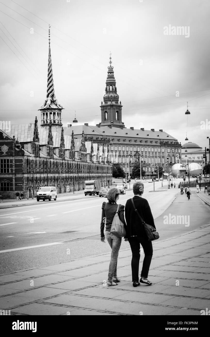 Couple Walking Together - Stock Image