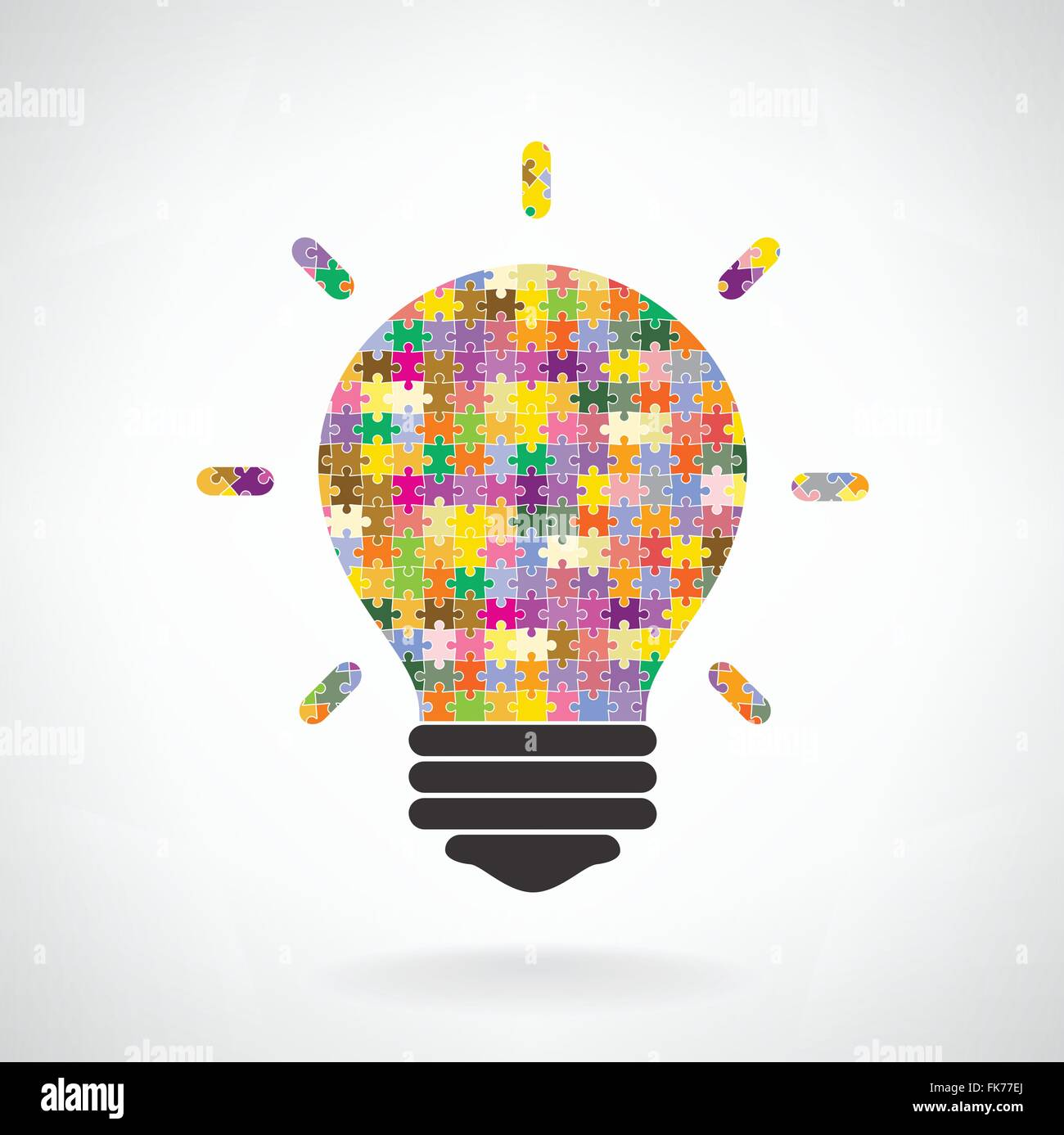 Creative puzzle light bulb Idea concept background ,design for ... for Education Creative Poster Designs  181obs