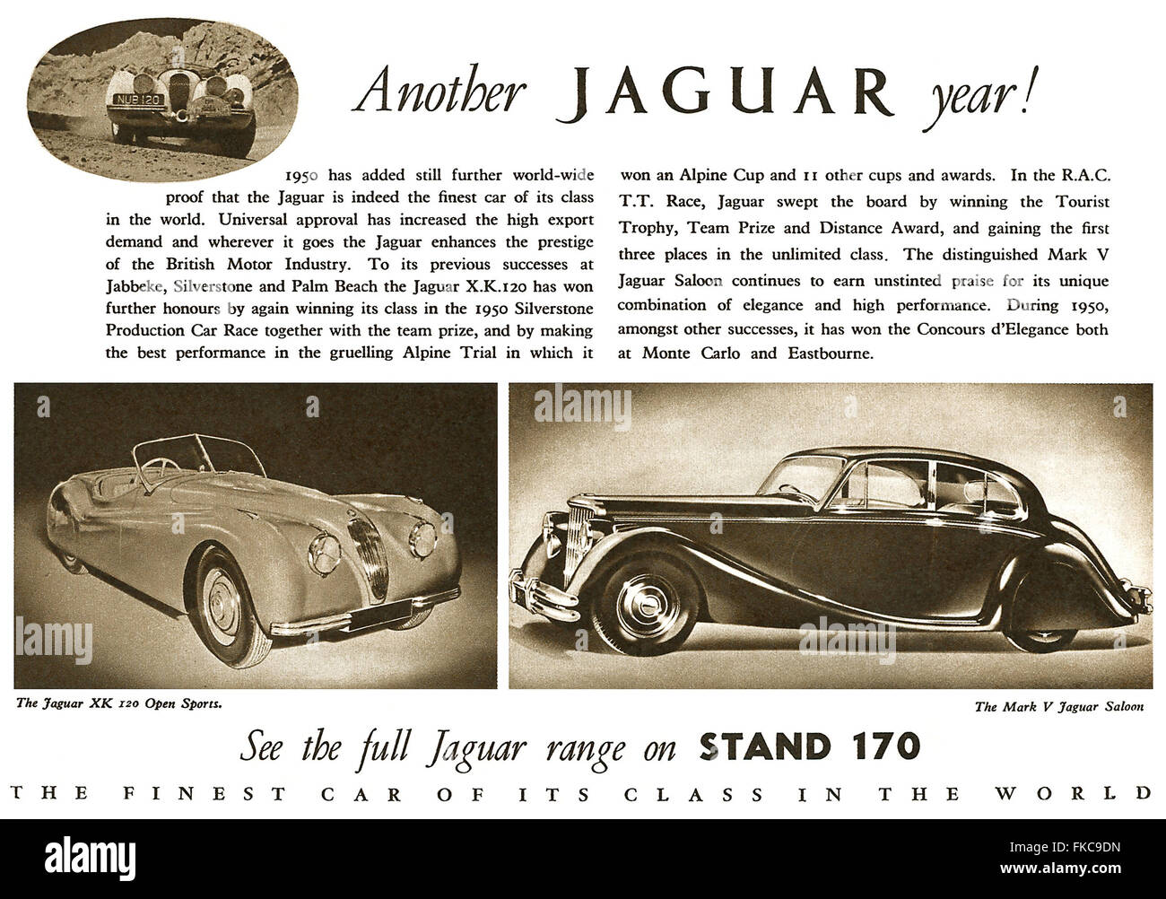 UK Jaguar Magazine Advert - Stock Image