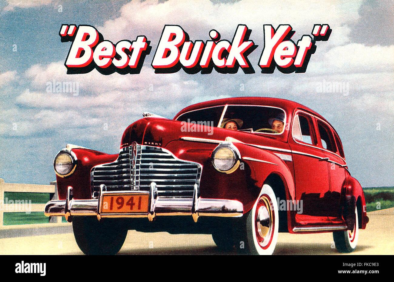 USA Buick Magazine Advert - Stock Image