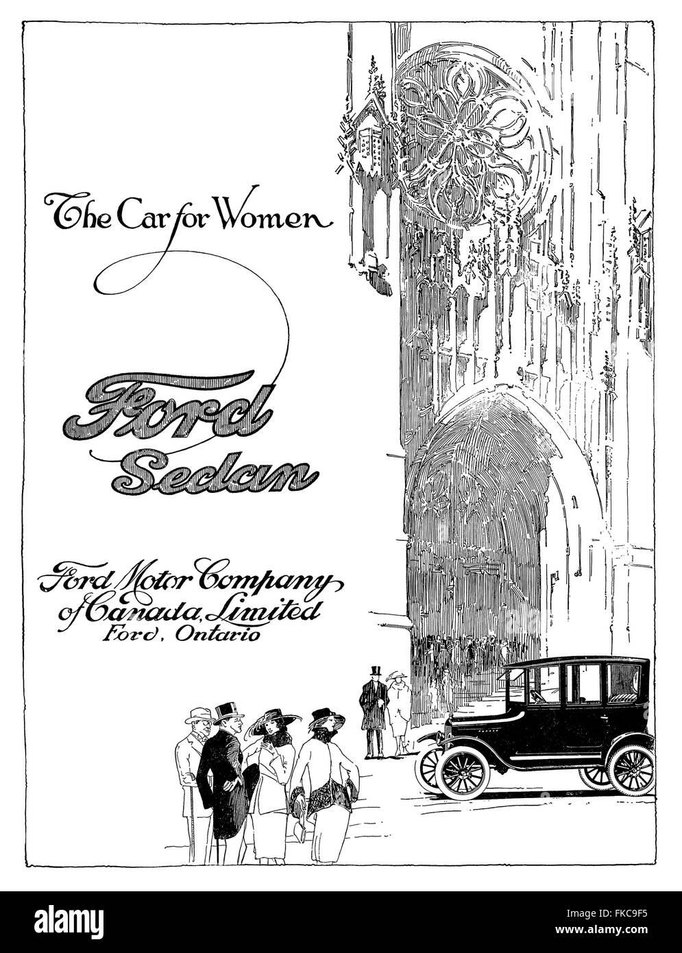 Canada Ford Magazine Advert - Stock Image