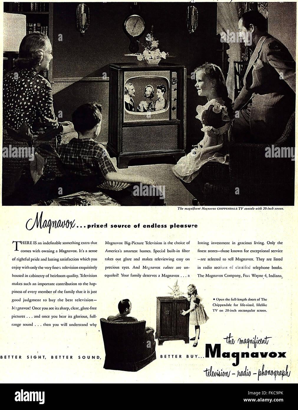 USA Magnavox Magazine Advert - Stock Image