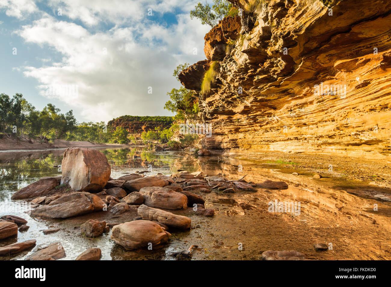 the Murchison River gorge at Ross Graham, Kalbarri National Park, Western Australia - Stock Image