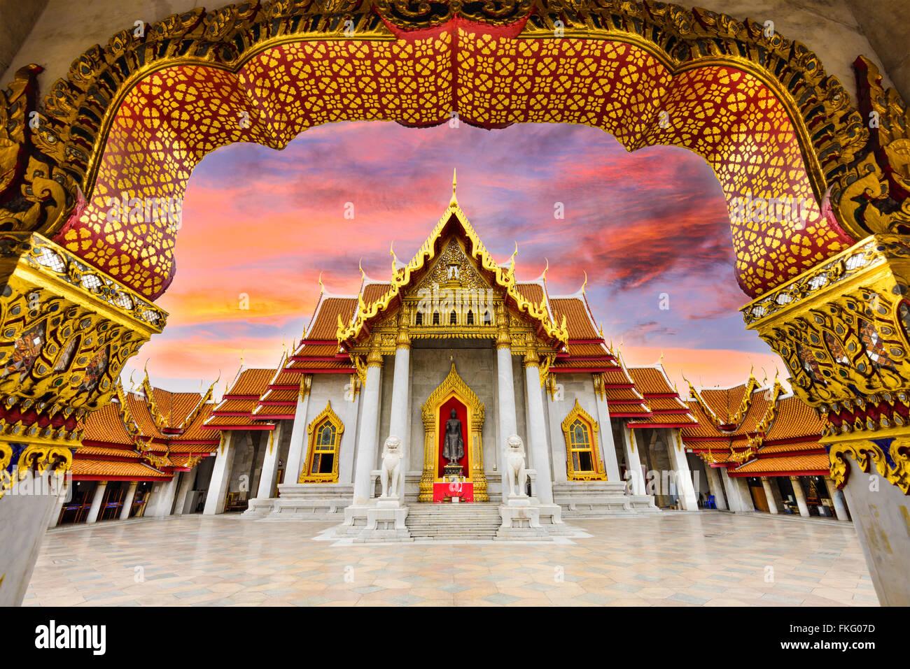 Marble Temple of Bangkok, Thailand. - Stock Image