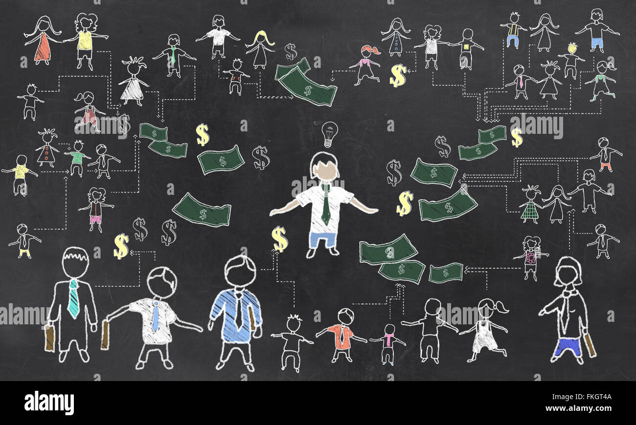 Crowd Funding Illustration - Stock Image