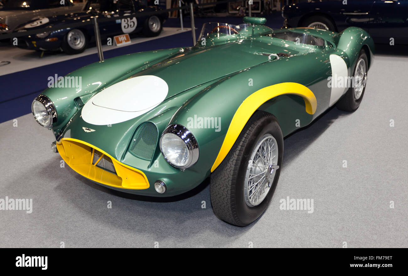 A 1953 Aston Martin DB3S/05 Ex Sir David Brown Racing Team, now fully factory restored by the Aston Martin Works Stock Photo