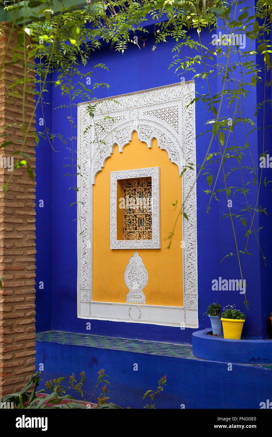 Jardin Majorelle in Marrakesh Morocco - Stock Image