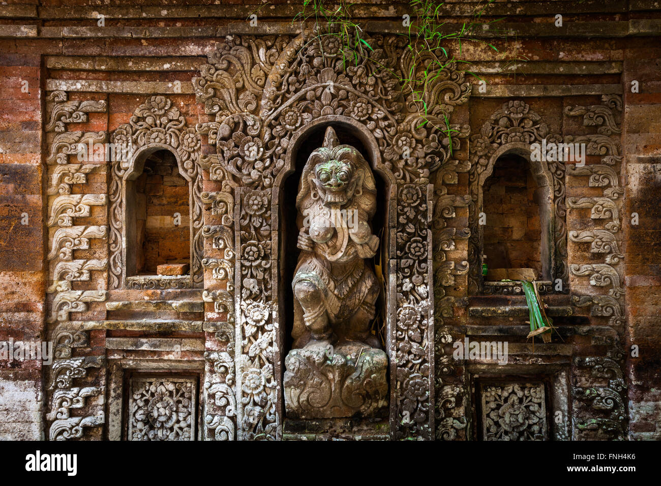 Rangda the demon queen statue in Ubud Palace, Bali, Indonesia. Stock Photo