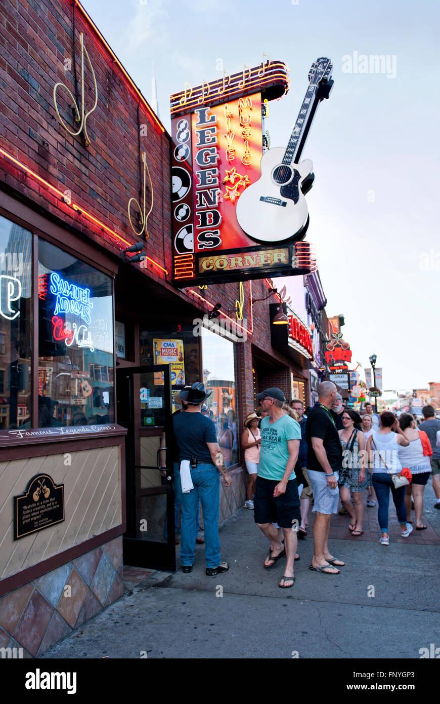 Legends Corner a popular restaurant / bar in Nashville Tennessee - Stock Image