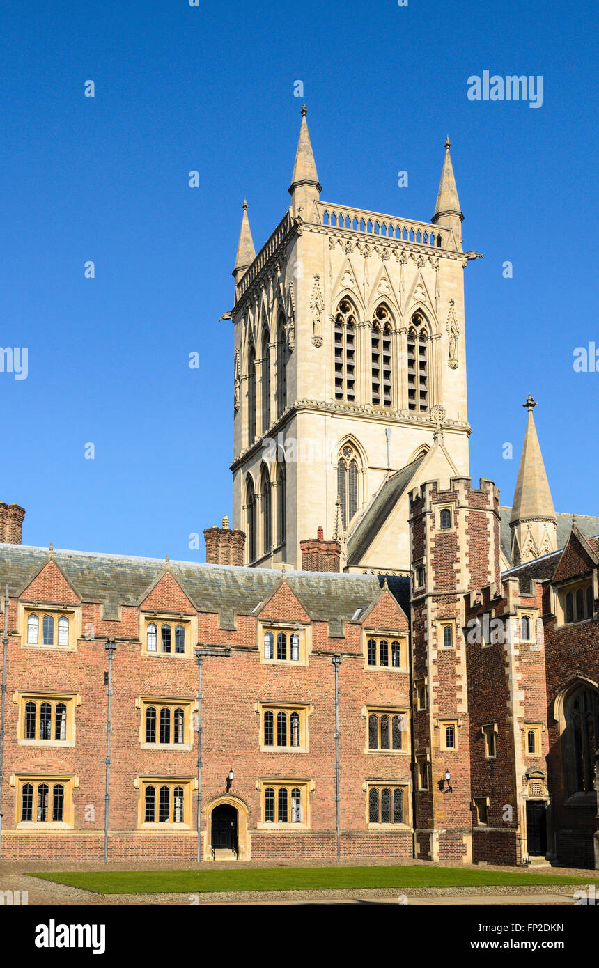 A quad at St Johns College, part of the University of Cambridge, England, United Kingdom. Stock Photo