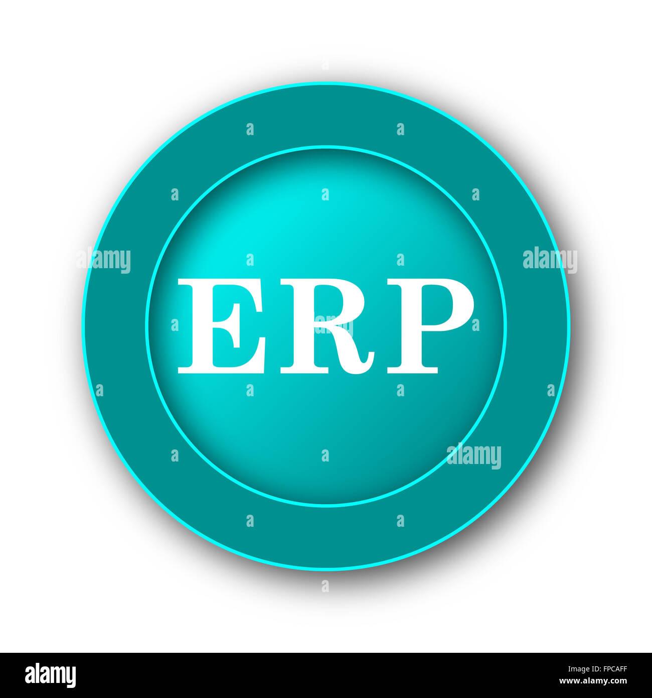 erp icon internet button on white background stock photo 99845971