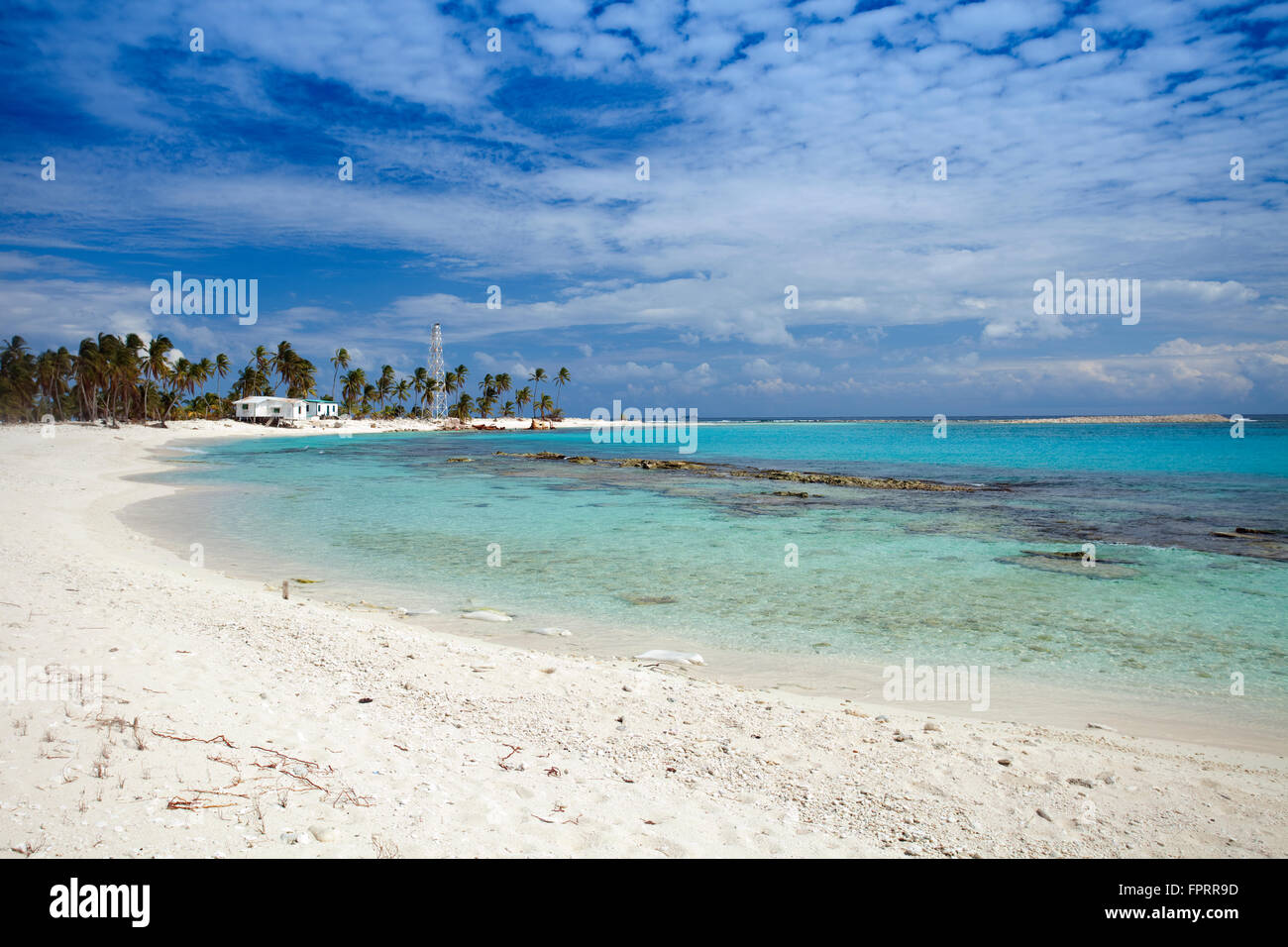 Geography/travel, Americas, Central America, Belize, Lighthouse atoll, Half Moon Caye, a coral caye in the Caribbean - Stock Image