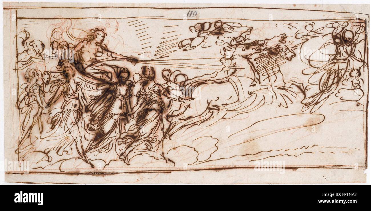 Guido Reni - Apollo on the Sun Chariot - Stock Image