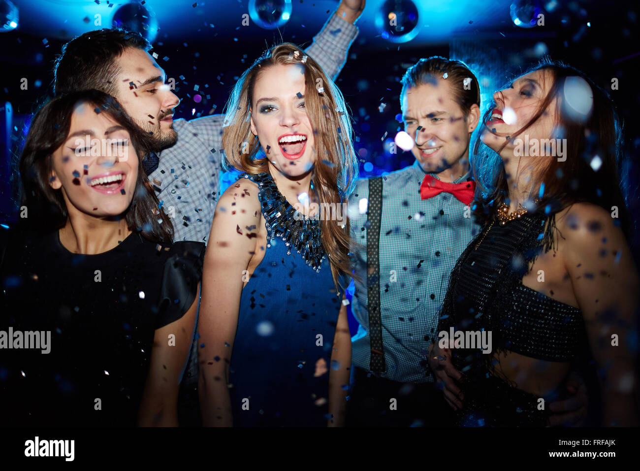 Ecstatic dancer - Stock Image