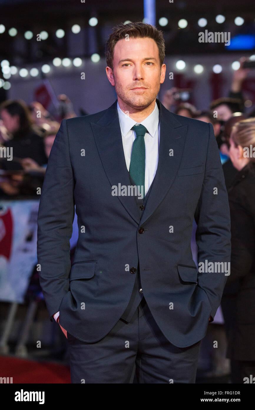 London, UK. 22 March 2016. Actor Ben Affleck (Bruce Wayne ...