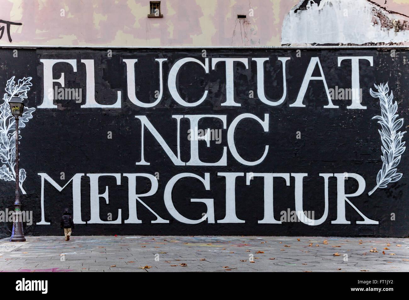 Fluctuat Nec Mergitur - Stock Image