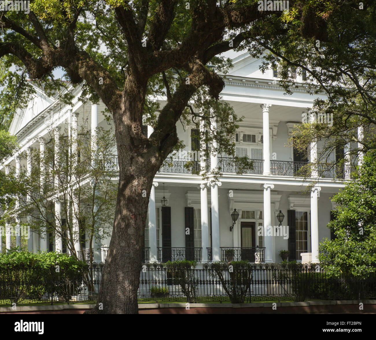 New Orleans Mansion in the Garden District of New Orleans, Louisiana Stock Photo
