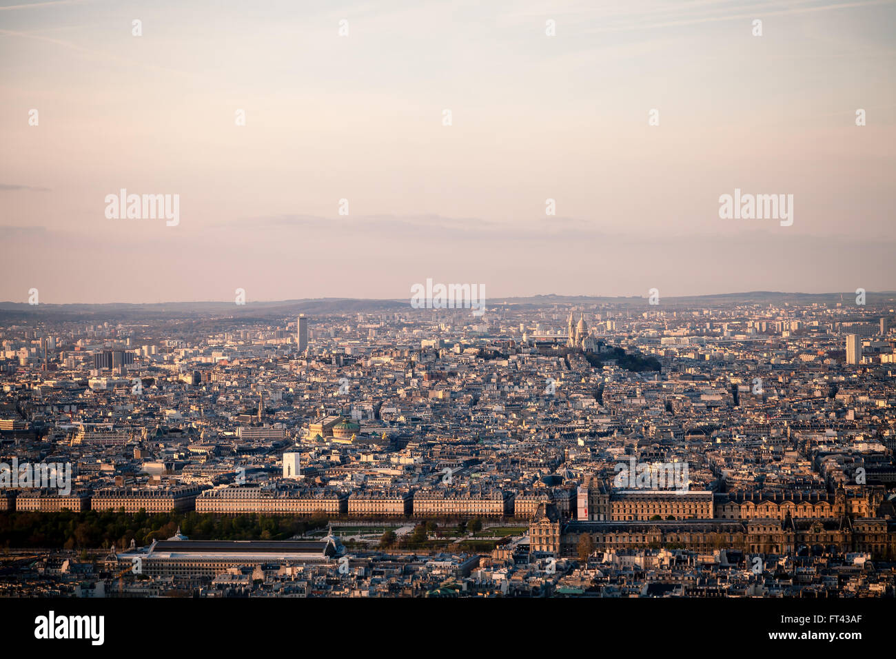 Rooftops of Paris - Stock Image