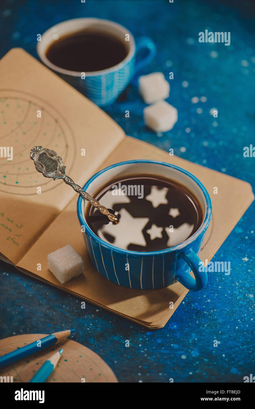 Cup full of stars - Stock Image