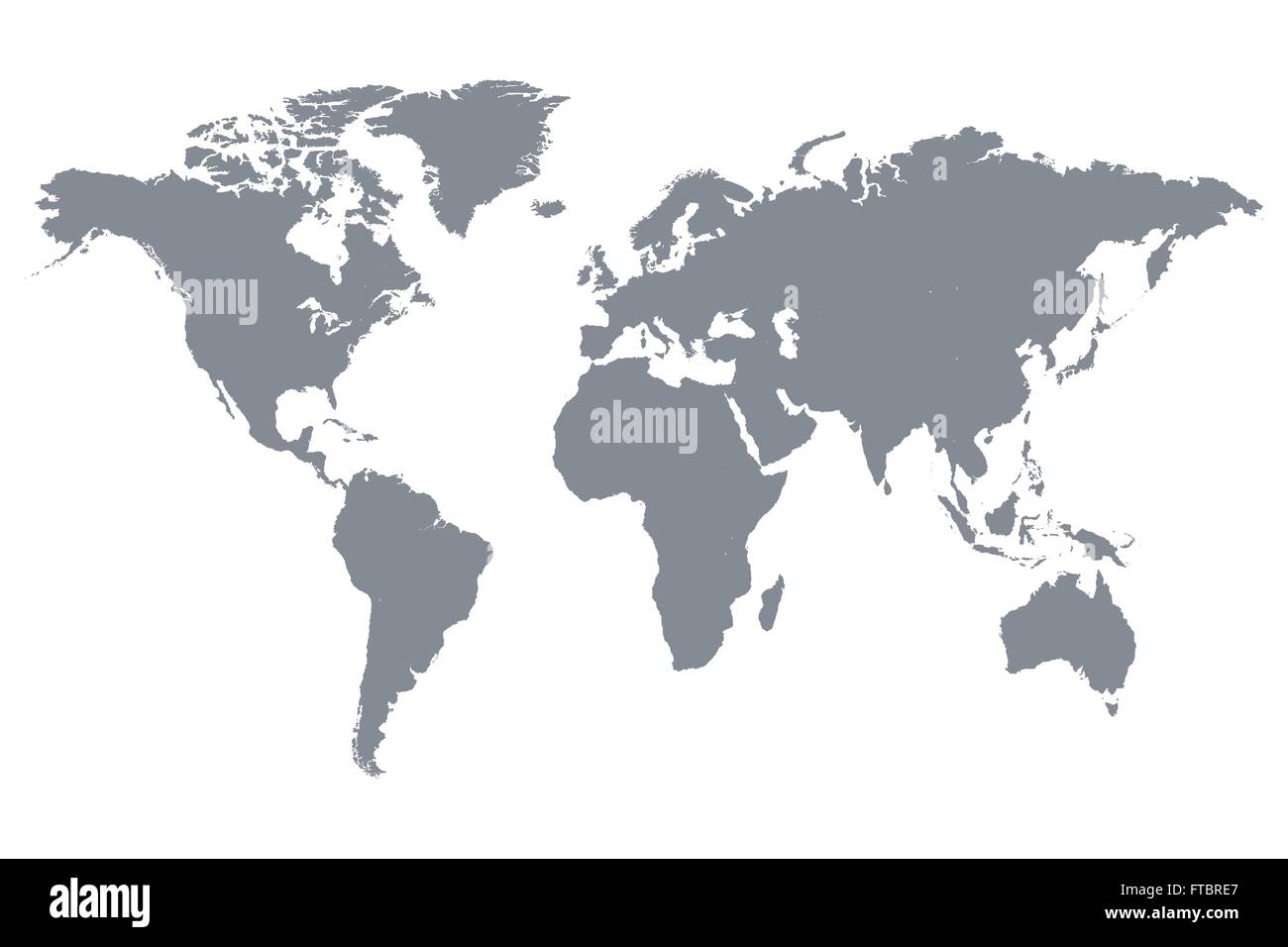 Grey world map vector illustration stock vector art illustration grey world map vector illustration gumiabroncs Choice Image
