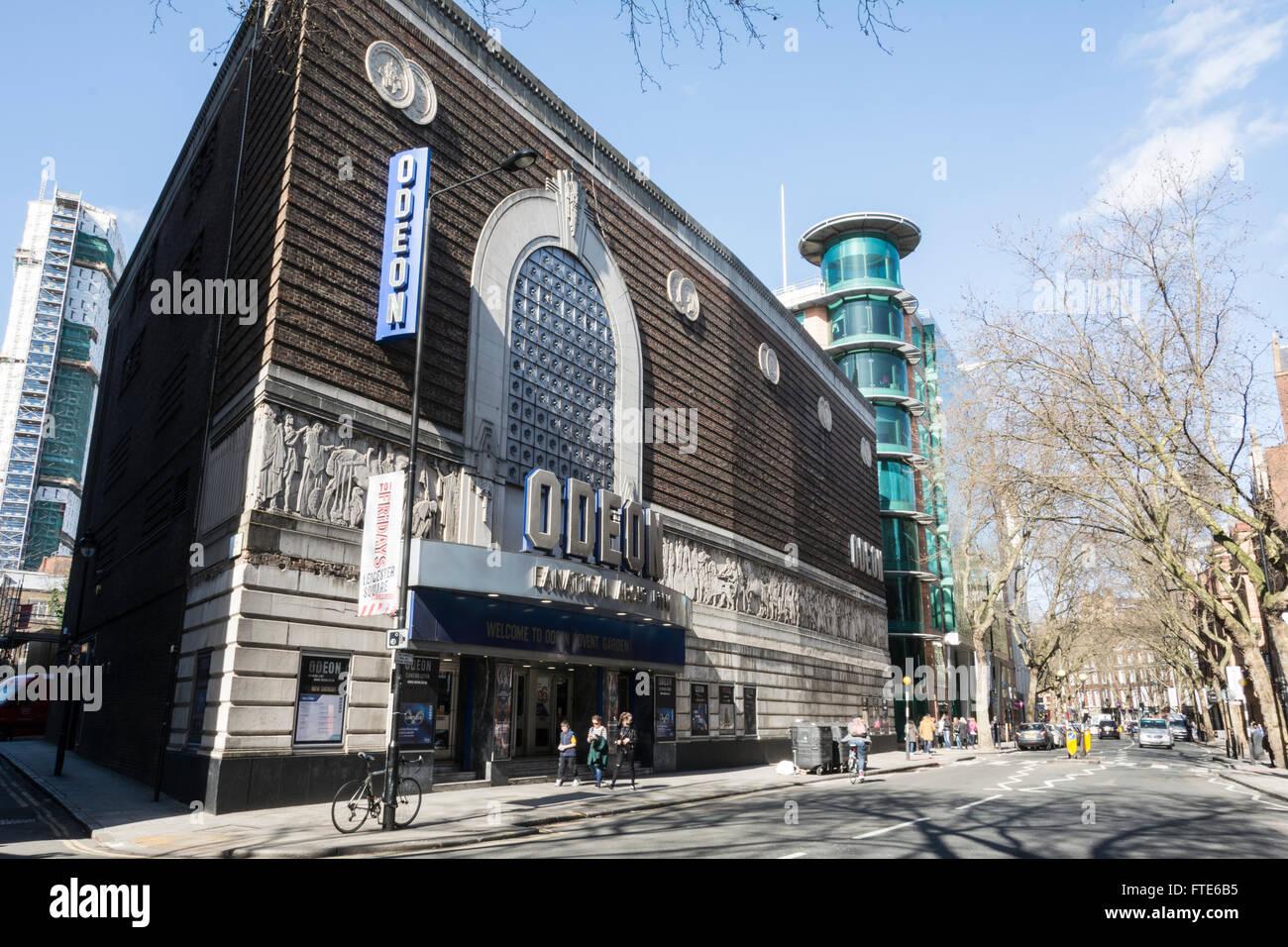 The exterior facade of the Odeon Covent Garden, London, UK Stock Photo