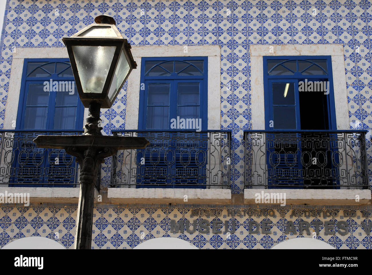 Detail of townhouse in historic center of Sao Luis - Stock Image