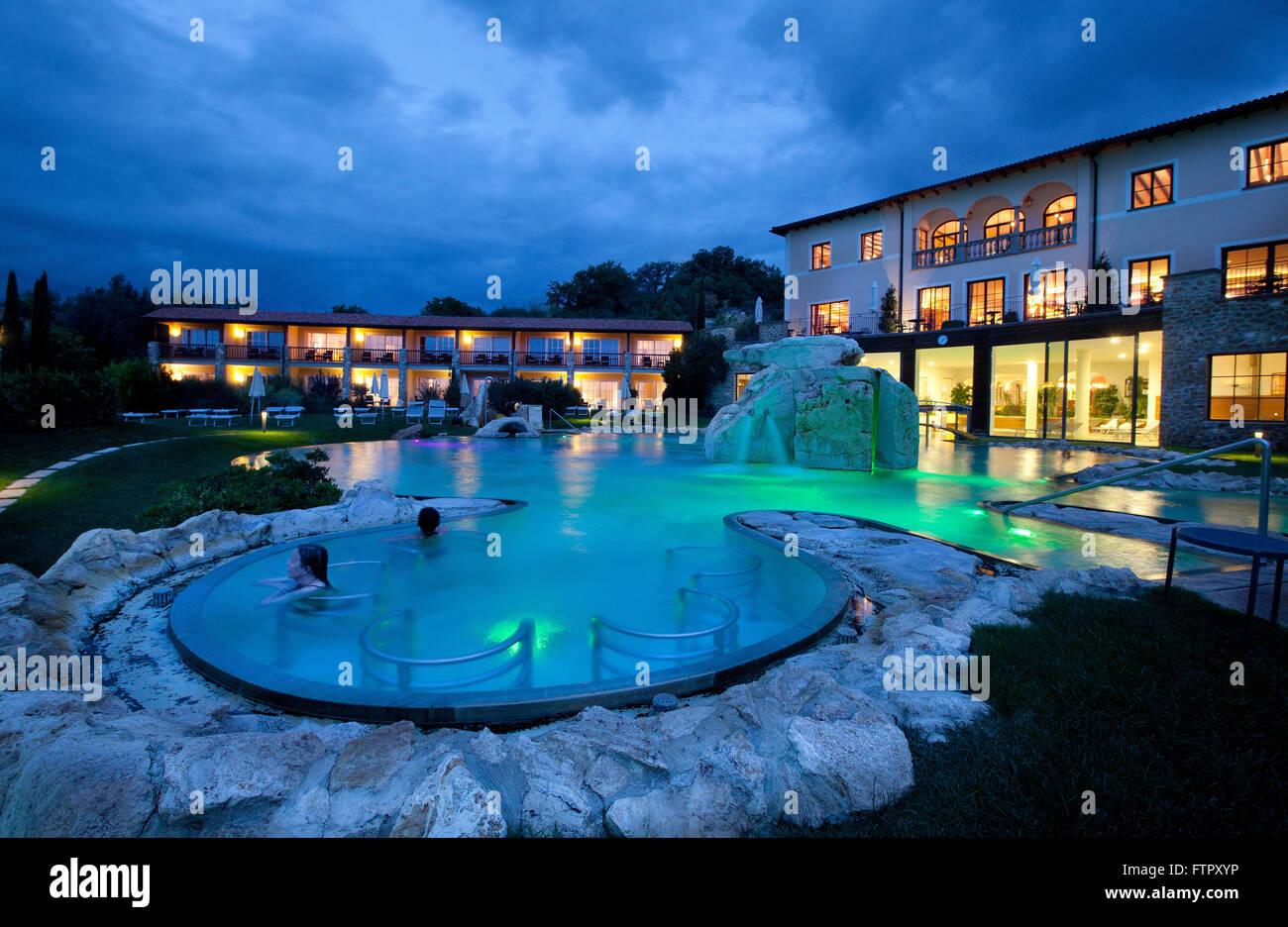 Hotel adler thermae spa relax resort bagno vignoni toscana stock photo 101307690 alamy - Hotel terme bagno vignoni ...