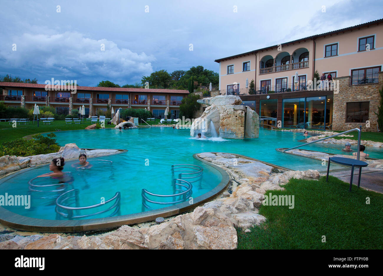 Hotel Adler Thermae Spa & Relax Resort,Bagno Vignoni,Toscana Stock ...