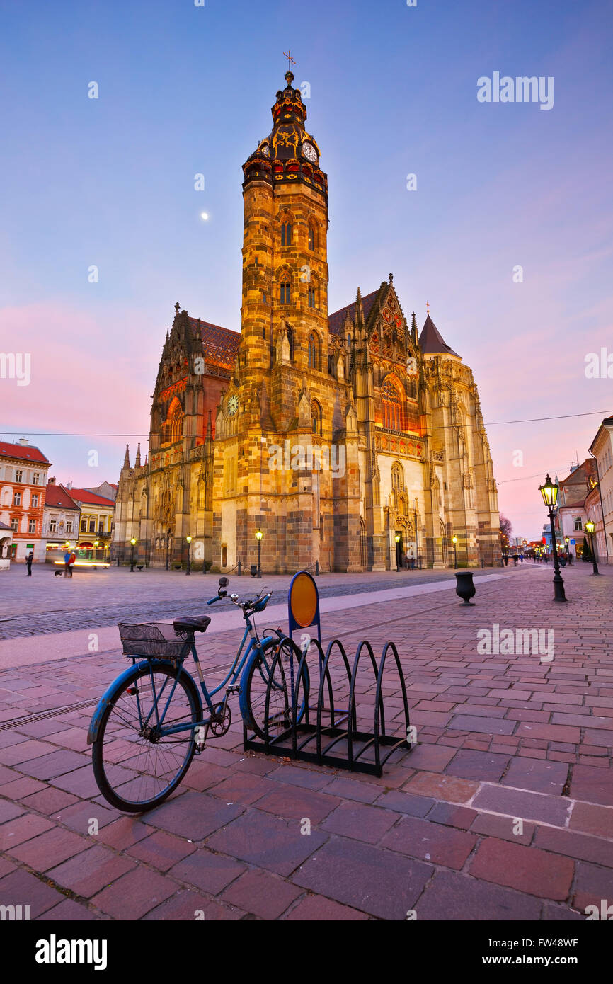 St. Elisabeth cathedral in the main square of Kosice city in eastern Slovakia. - Stock Image