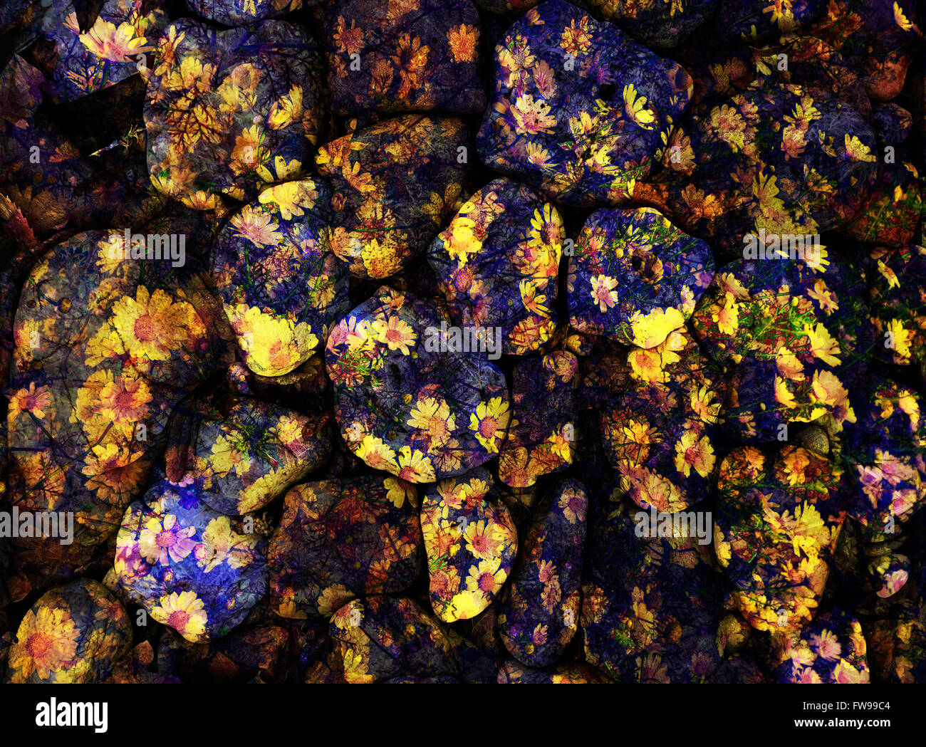 Modern abstract graphic design digital art concept creative - Stock Image