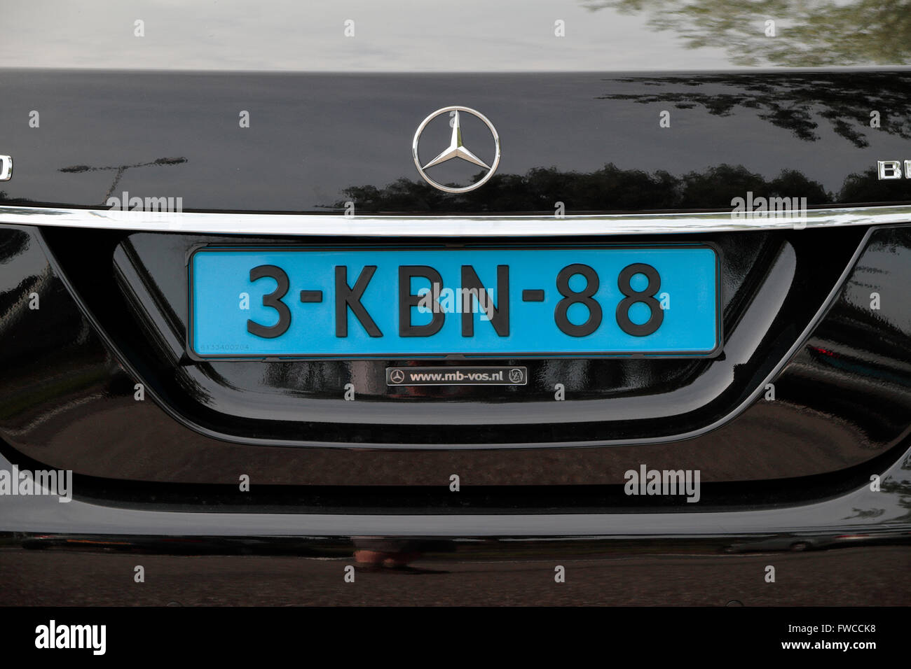 blue coloured taxi license plate on a mercedes car parked in stock photo 101691612 alamy. Black Bedroom Furniture Sets. Home Design Ideas