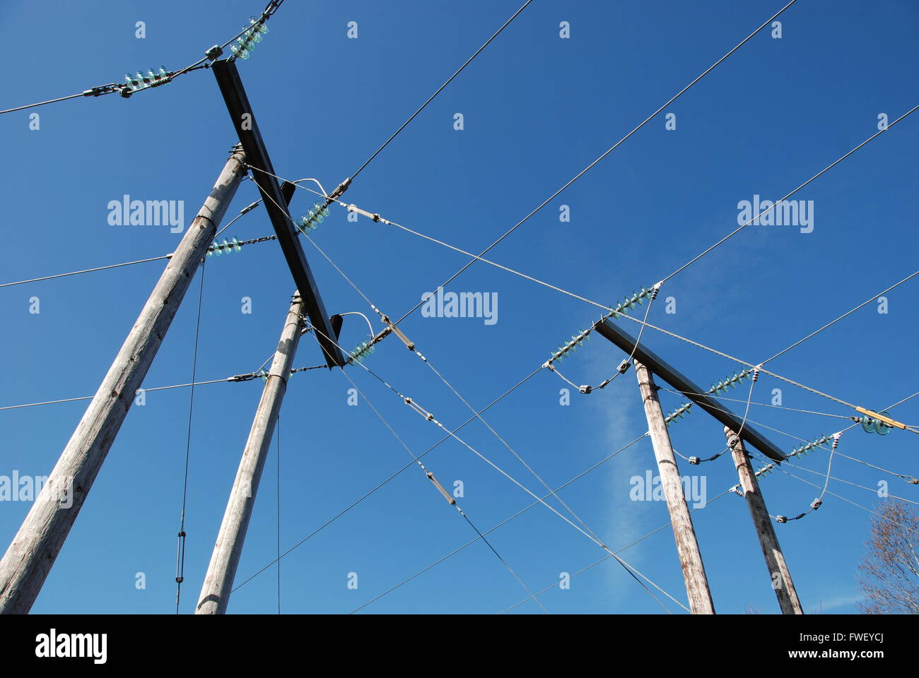 Connecting wires - Stock Image