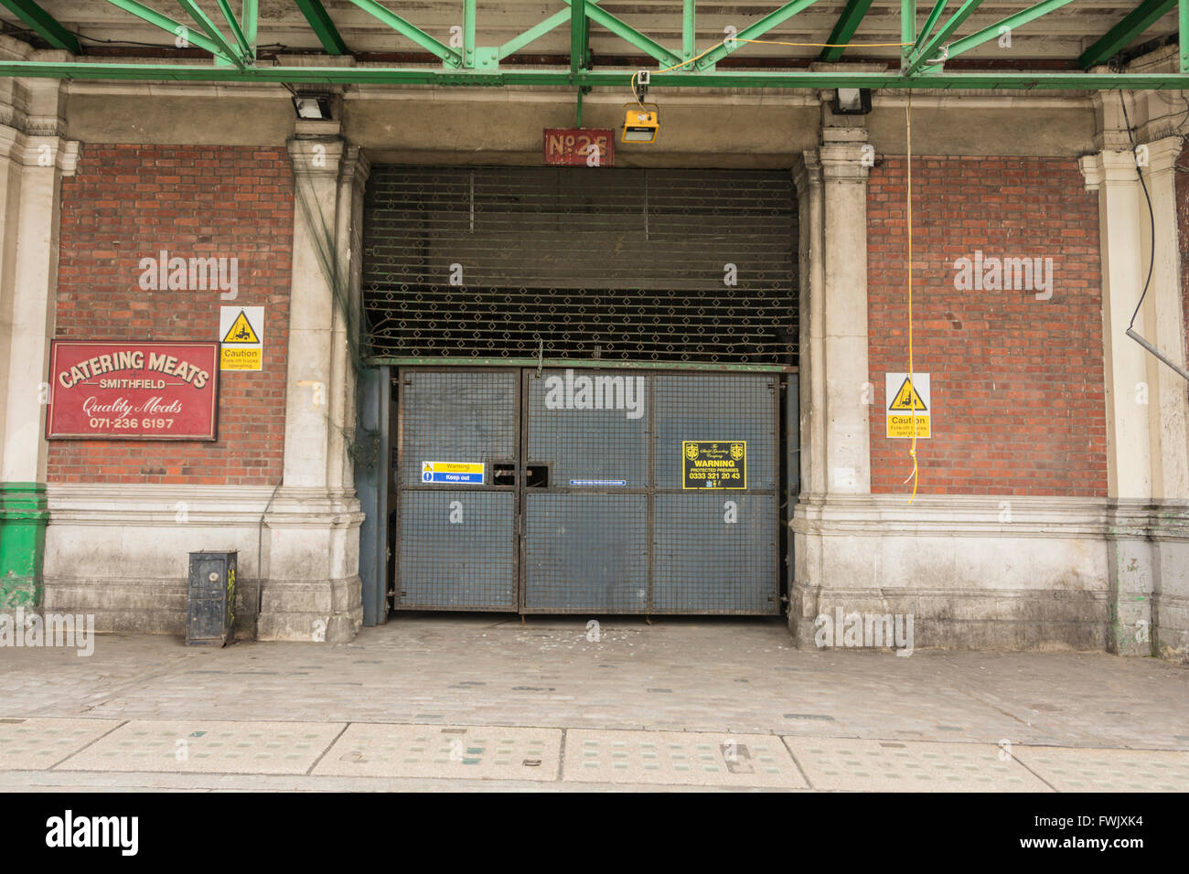 Catering Meats - the remnants of Smithfield Meat Market in Central London, UK Stock Photo