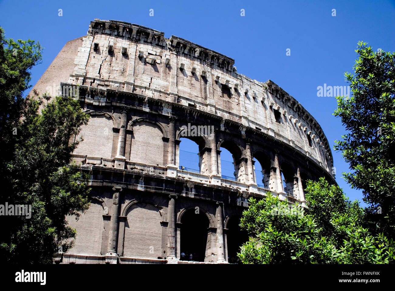 The Coliseum in Rome, Italy, Europe, Colosseum Coliseum travel traveller holiday vacation trip famous landmark renowned - Stock Image