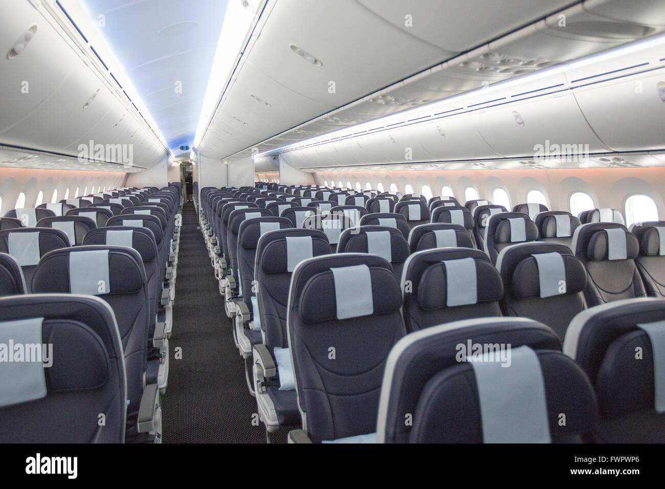 Interior Of Boeing 787 Dreamliner Stock Photo 101921406