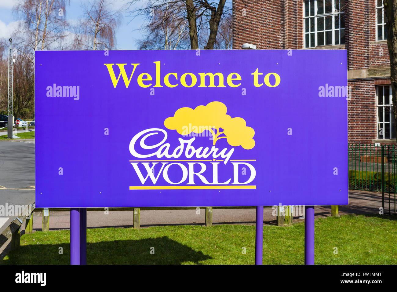 Entrance to Cadbury World, Bournville, Birmingham, West Midlands, UK - Stock Image
