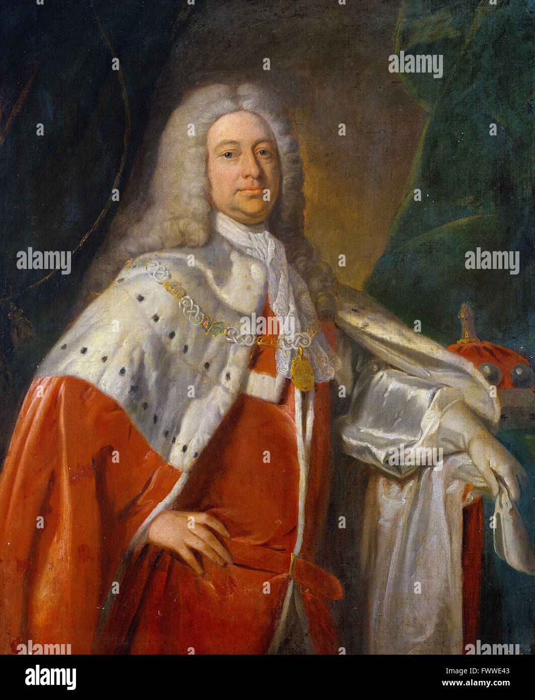 British - Portrait of a Baron - Stock Image